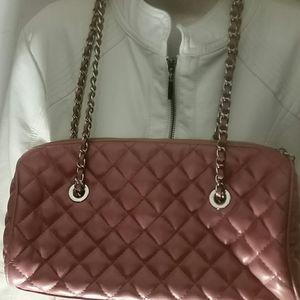 Handbags - Quilted faux leather shoulder bag